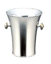 ワイン用品 ワイン・シャンパンクーラー トリオ 18-8ステンレス製 二重パーティークーラー B型 (目皿・トング付) 1.2L (6-1721-2201)