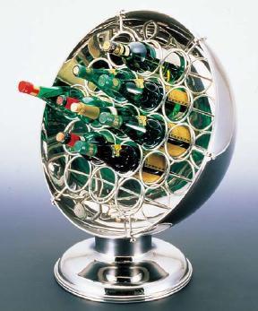 代引不可 ワイン用品 UK 18-8ステンレス製 ジャンボワインラック 24ボトル用 (7-1831-1001)