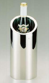 ワイン用品 ワイン・シャンパンクーラー 18-8ステンレス製 ワインクーラー (二重構造) No.171 フルサイズ用 (6-1726-0302)