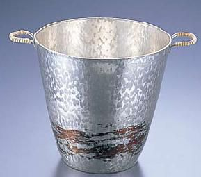 ワイン用品 ワイン・シャンパンクーラー 銅錫被 刷毛目 ワインクーラー SG001 3.9L (7-1822-0201)