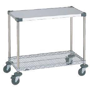 代引不可 メーカー直送 送料無料 ワーキングテーブル1型 NWT1C-S (1,213×461×H815mm) キャスター径φ100 (6-1104-0109)