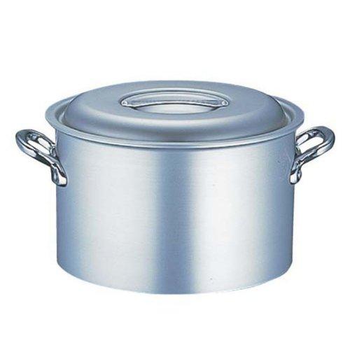 半寸胴鍋 送料無料 (ふた付き):33cm エコクリーン アルミ マイスター半寸胴鍋(本体内面ゼロクリア2コート加工)33cm (7-0032-0206)