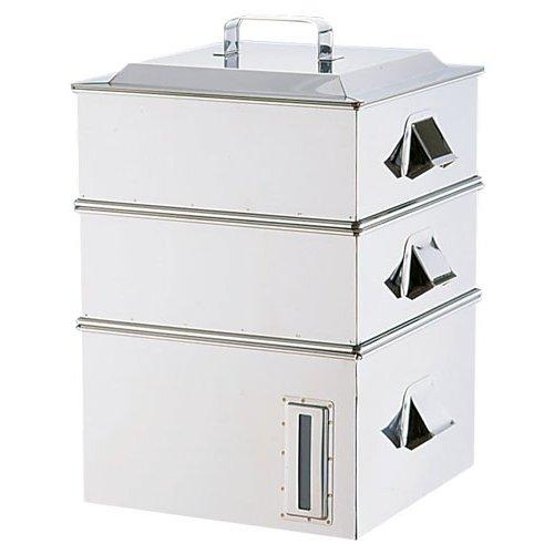 IH(100V・200V)電磁専用 業務用 角蒸器 2段 36cm (7-0385-0102)