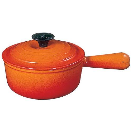 鍋・ホーローウェア 送料無料 IH対応 ル・クルーゼ(LE CREUSET) ソースパン2507 オレンジ (7-0084-0401)