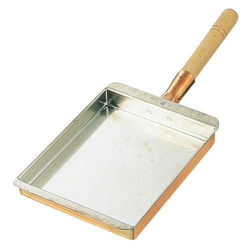 たまご焼器 銅 玉子焼 関西型 30cm(345×300×30mm) (7-0514-0312)