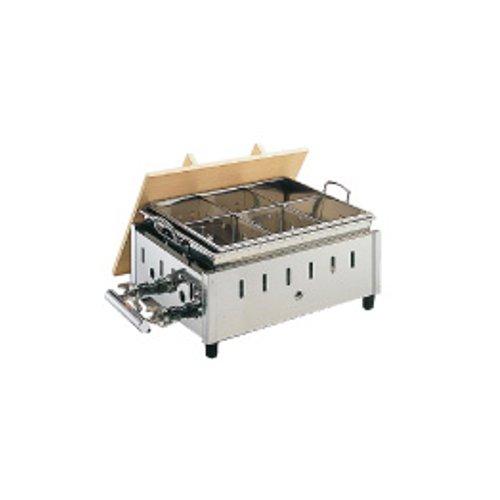 ガス式おでん鍋 送料無料 18-8ステンレス製 湯煎式 おでん鍋 OY-14 尺4寸 12・13A (7-0775-0404)