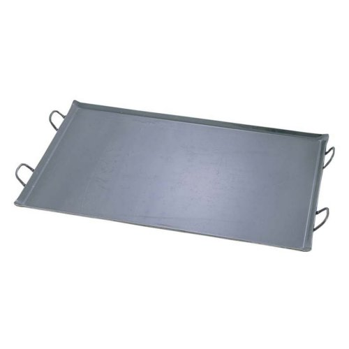 バーベキュー用品☆鉄板 (横幅80cm) 本格派! 鉄 極厚プレス式 バーベキュー鉄板 大 (7-0949-0202)