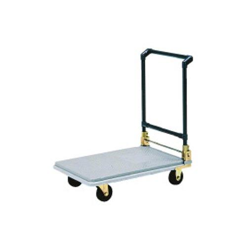 台車・カート 送料無料 組立て済み 運搬台車ポリトラー N-450 (ハンドル折りたたみ式) (7-1171-0701)
