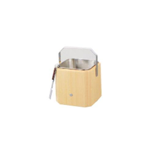 バー用品 アイスペール (1.6L) 白木 アイスペール (ステンレス仲子・トング付) W-705 (小) (7-1799-1101)