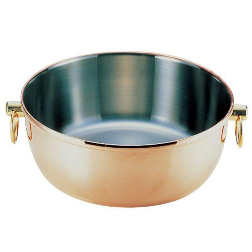 送料無料! IH対応! しゃぶしゃぶ鍋30cm ロイヤル クラデックス 銅メッキ しゃぶしゃぶ鍋 CQCW-300C (7-1996-0702)
