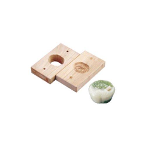 和菓子用品・型 お菓子作り・道具 職人が一つ一つ丁寧に仕上げた手彫物相型 上生菓子用 蓮葉 (7-1092-1001)