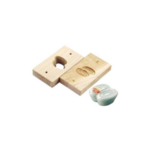 和菓子用品・型 お菓子作り・道具 職人が一つ一つ丁寧に仕上げた手彫物相型 上生菓子用 二重渦 (7-1092-1401)