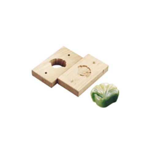 和菓子用品・型 お菓子作り・道具 職人が一つ一つ丁寧に仕上げた手彫物相型 上生菓子用 イチョウ (7-1092-1601)
