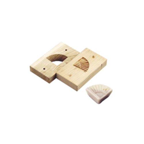 和菓子用品・型 お菓子作り・道具 職人が一つ一つ丁寧に仕上げた手彫物相型 上生菓子用 扇 (7-1092-2001)
