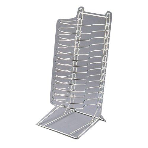 ピザ用品 14枚収納可能!狭い調理場に! 18-8ステンレス製ピザパンタワー14(12インチ・14インチ兼用)(7-0898-0801)