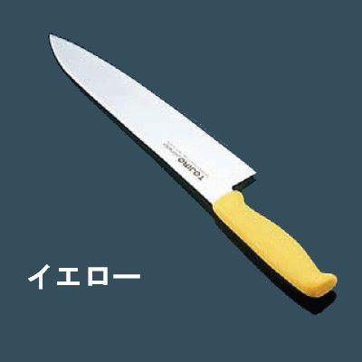 包丁・ナイフ TOJIRO エコクリーン トウジロウ カラー包丁 牛刀(両刃) 30cm イエロー E-149Y (6-0307-0917)