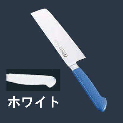 包丁・ナイフ 抗菌カラー包丁 菜切(両刃) MNK-160 16cm ホワイト (6-0309-0601)