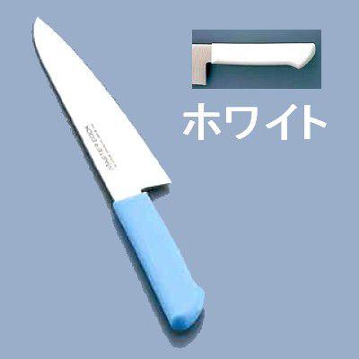 包丁・ナイフ マスターコック 抗菌カラー包丁 洋出刃(片刃)MCDK-180 18cm ホワイト(7-0320-0401)
