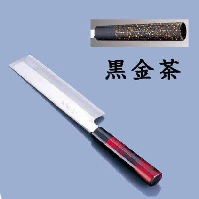 送料無料 包丁・ナイフ 歌舞伎調和包丁 忠舟 薄刃 21cm 黒金茶(6-0275-1107)