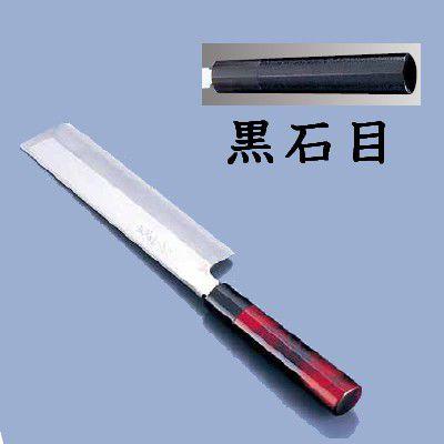 送料無料 包丁・ナイフ 歌舞伎調和包丁 忠舟 薄刃 21cm 黒石目(6-0275-1108)