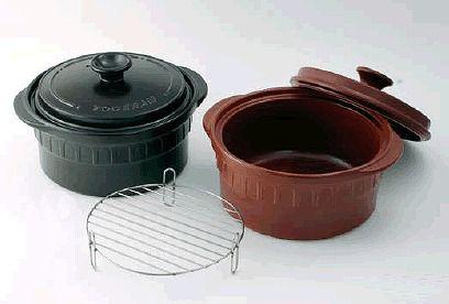 両手鍋 1台4役!焼く・煮る・炊く・蒸すの調理が出来る (IH対応) ニュートーセラム 両手鍋深型24cm(金網付)TSR-190BM 茶(S)(6-0072-0202)