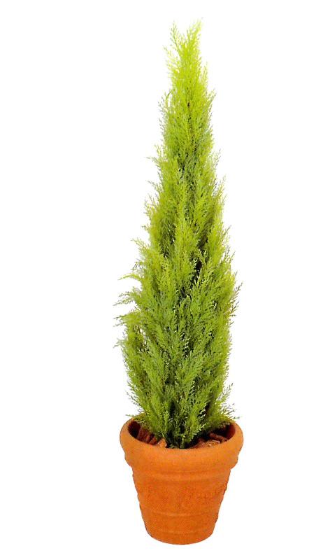 ※代引不可【送料無料】鉢付き ゴールドクレストライトグリーン130cm(屋内用)クリスマスツリーにも最適!飲食店等の店舗内装 店舗装飾 ディスプレイ 間仕切り 目隠しに!(G-242-130)