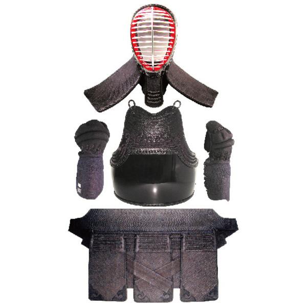 剣道 防具K-1 軽量4mmナナメ刺 面 胴 甲手 垂 防具一式 マルチボストン防具袋付き 小学生 中学生 高校生 大学 一般