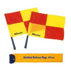 海外限定 MIKASAミカサ サッカー ラインズマン アシスタントレフリー フラッグ ba18 審判 贈与 収納ケース付き 旗