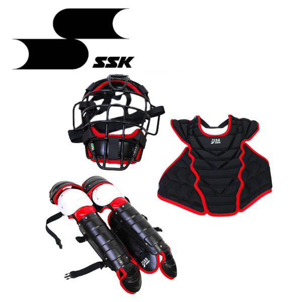 SSK 一般 軟式 キャッチャー防具 4点セット 専用バッグ付 CGSET18NC