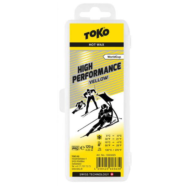 TOKO トコ High Performance ワックス イエロー 120g 5503025 フッ素高配合レース用滑走ワックス 適応雪温0~-6C 適応気温10~-4C TRIBLOC レギュレーション対応 スノーボード スキー ウィンタースポーツ メンテナンス 冬 アルペン 雪山 チューンナップ