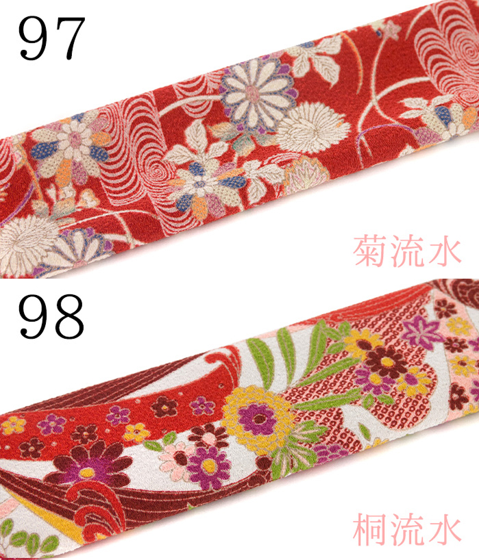 "Style ""Chirimen Japanese pattern Kimono 91-100"" made in Japan kimono Han-ERI crepe fabric Ryu kimono juban graduation ceremony wearing cherry plum Camellia Peony Chrysanthemum Tung hemp heritage pattern modern retro Taisho"
