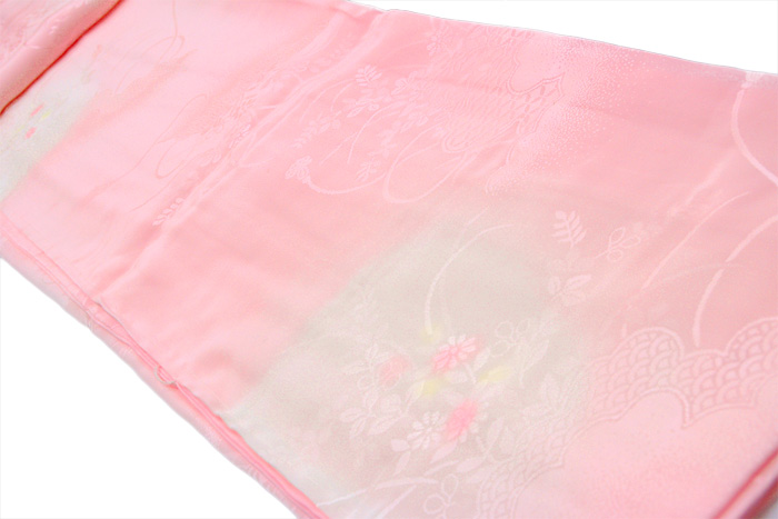 New style rose women's jimon with luxury, silk long-sleeved dress (big furisode) nagajuban S/M/L/LL