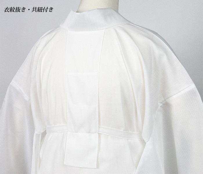 《日本製 二部式襦袢 絽》夏にオススメ!新品仕立上がり洗える二部式襦袢 夏 絽 M/L 半襦袢 裾除け 衣紋抜き 共紐 半衿付き 単衣袖 国産 洗える 綿 ポリエステル生地(zr)