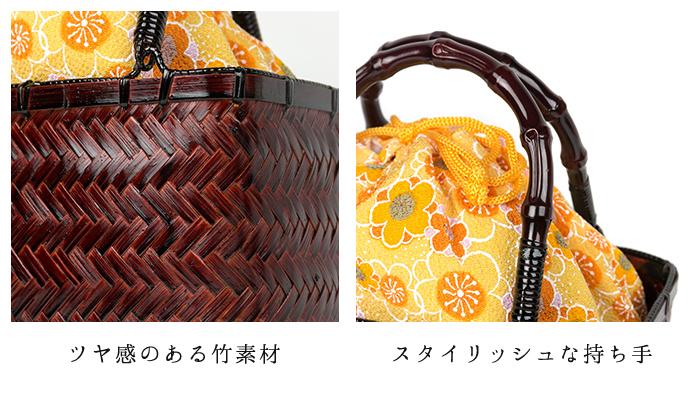 """Cute """"yukata bamboo drawstring bags» bag basket purse kg-04 square type yukata bag basket cago bag great WA pattern retro DrawString bag basket women ladies"""