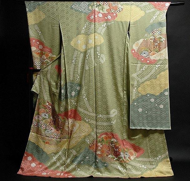 【手縫い仕立て付き フルオーダー】「松井青々調」 染め分けボカシ 絞り入り 地紋 振袖