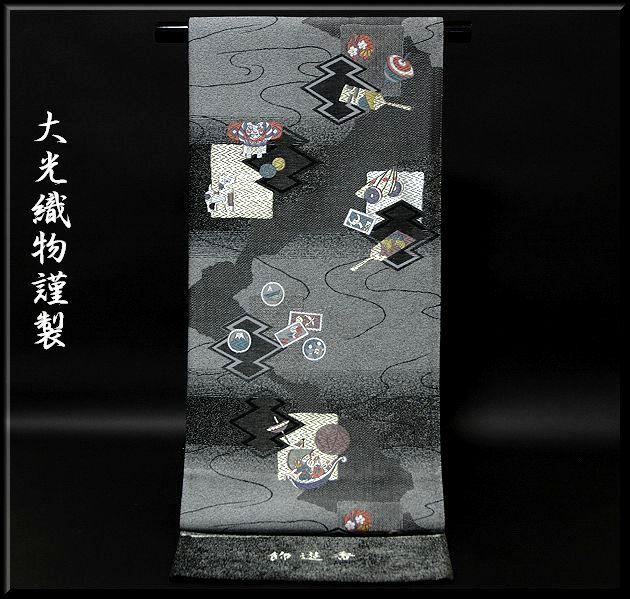飾遊香 「大光織物謹製」 凧に羽子板 飾遊香 袋帯, JSstar:6c1c1ec9 --- m2cweb.com