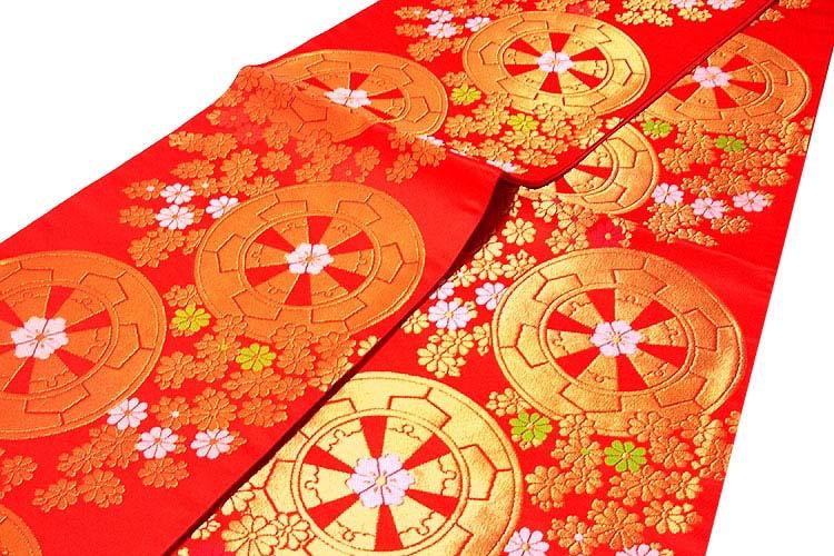 【お仕立て付き 帯芯代込み】【訳あり】「七五三-十三参り-祝帯」 ジュニア着物などに 7歳~ 長尺 キッズ ジュニア 女児 子供用 日本製 桐生織 正絹 袋帯