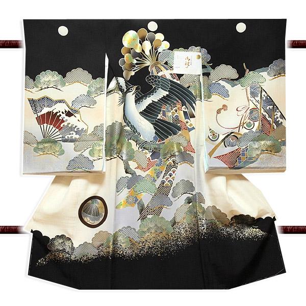 【最高級】 染め分け 金彩加工 ボカシ 男児 七五三 正絹 祝着物