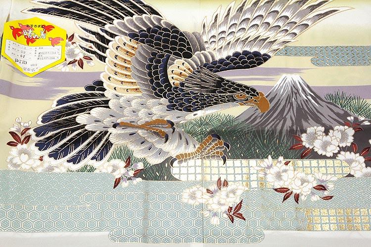 「鷹柄」 日本製 染め分けボカシ 金彩加工 男児 5歳 七五三 羽織単品