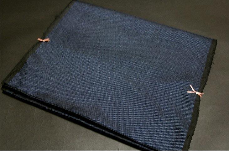 男物 亀甲柄 濃紺色 着物羽織 疋物 アンサンブル
