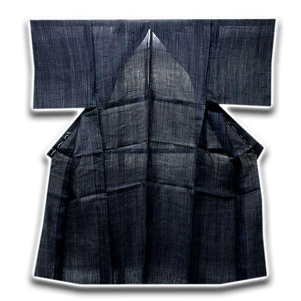 【訳あり】「仕立て上がり」 絹芭蕉 縞柄 粋でオシャレな 男物 正絹 夏着物