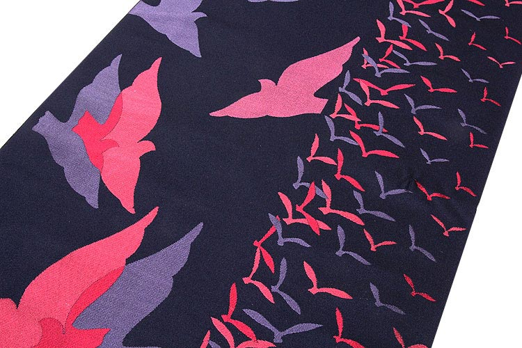 「じゅらく謹製」 リバーシブル 手織りの逸品 最高級 長尺 ロングサイズ 半幅 小袋帯