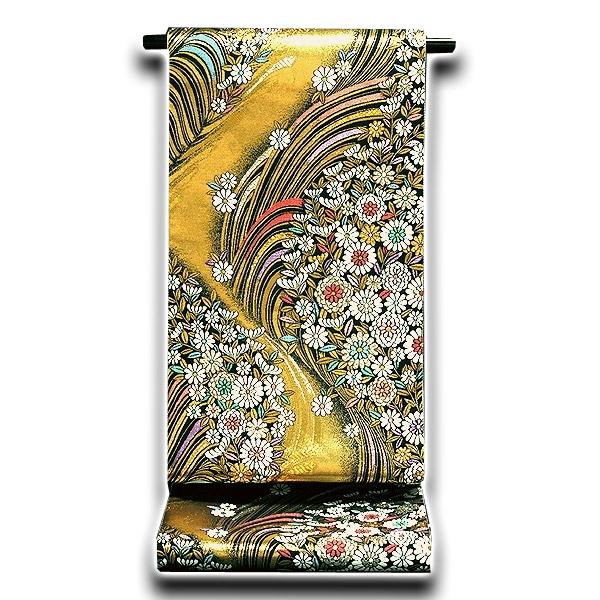 【仕立て上がり】 花模様 振袖に最適 正絹 袋帯