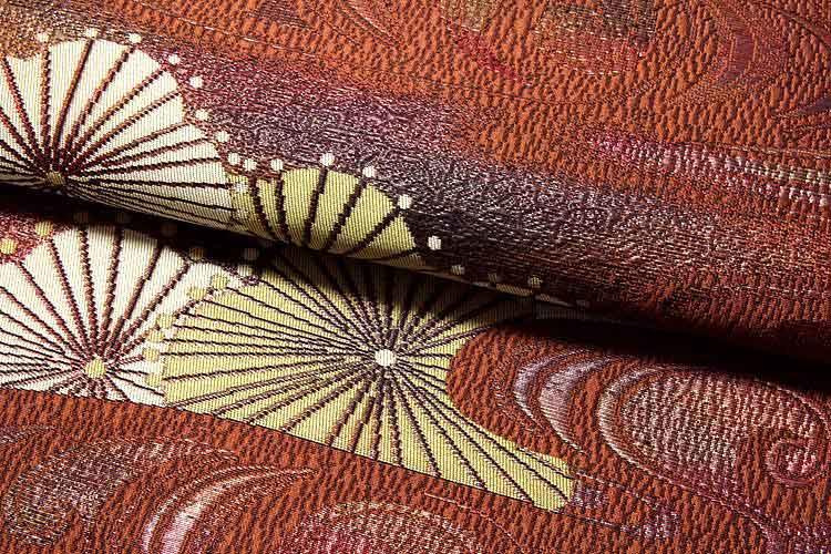 彩紀行 観世菊黒木織物謹製 緑印 正絹 本場筑前博多織 8寸 名古屋帯odxCerB