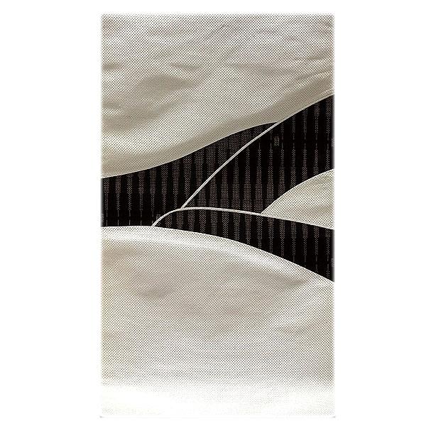 「伝統技法:きりばめ」 切嵌め パッチワーク風 絣模様 浮き織り 正絹 九寸 高級 名古屋帯