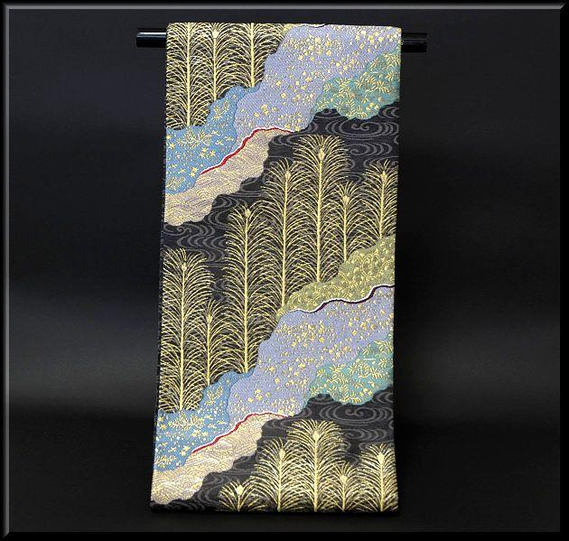 【お仕立て付き 帯芯代込み】京都西陣織「宮本貞夫謹製」 松宴 豪華な オシャレ 袋帯