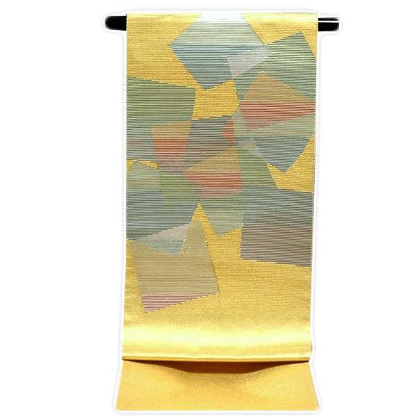 【お仕立て付き 帯芯代込み】「色紙文様」 金色 豪華な 正絹 袋帯