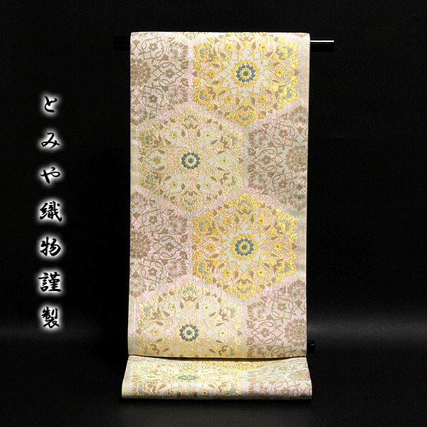 【お仕立て付き 帯芯代込み】京都西陣老舗「とみや織物謹製」 輝羅羅箔使用 光のマジック 光の宴 袋帯