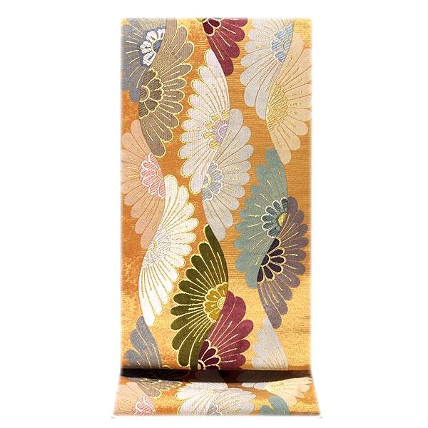 煌びやかで豪華な 金色系 金糸織 正絹 袋帯