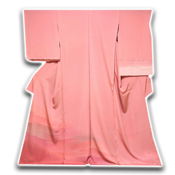 【訳あり】 「平安王朝襲色目」 ボカシ 地模様起こし 色留袖